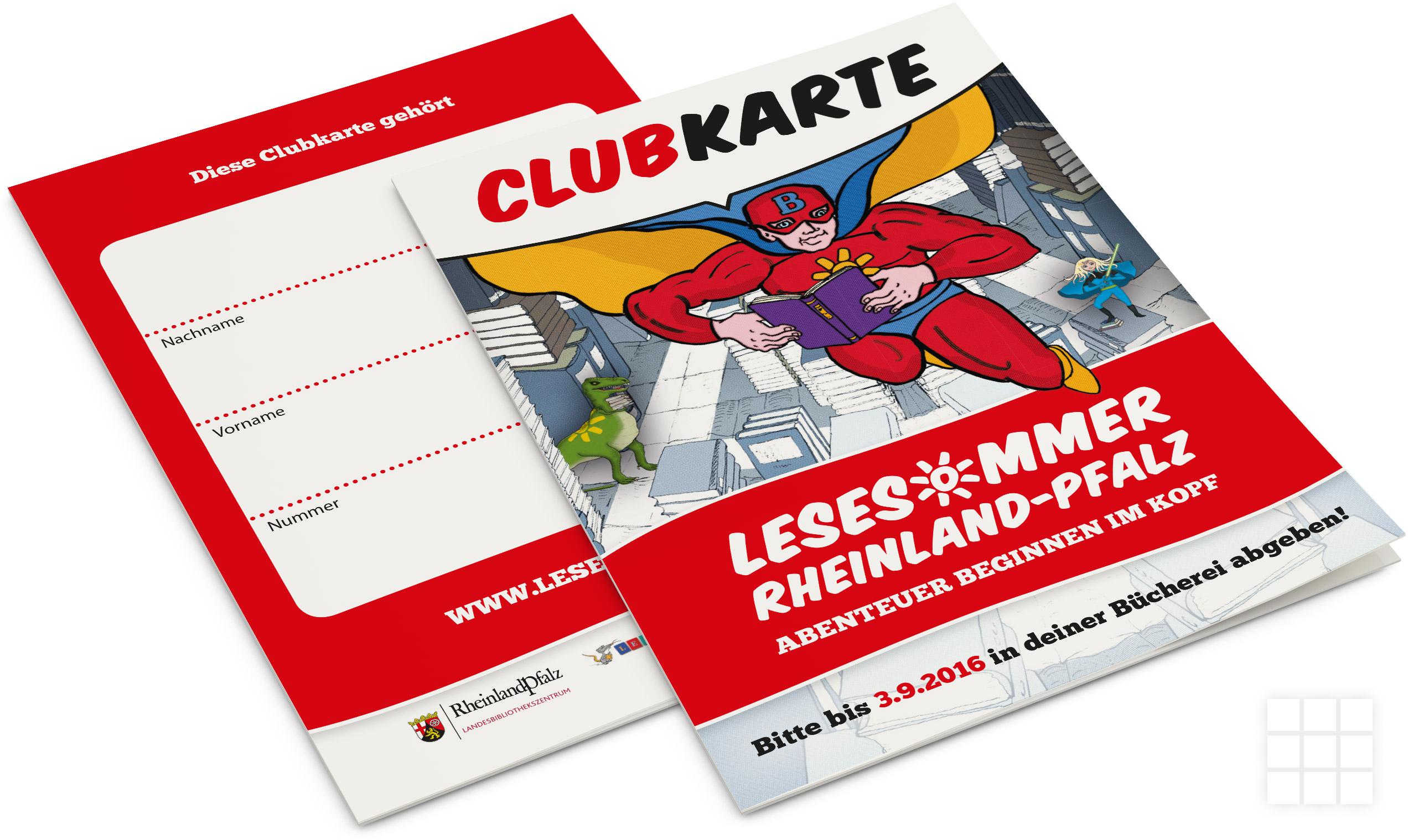 Clubkarte für den LESESOMMER 2016 - NEUMANN DESIGN