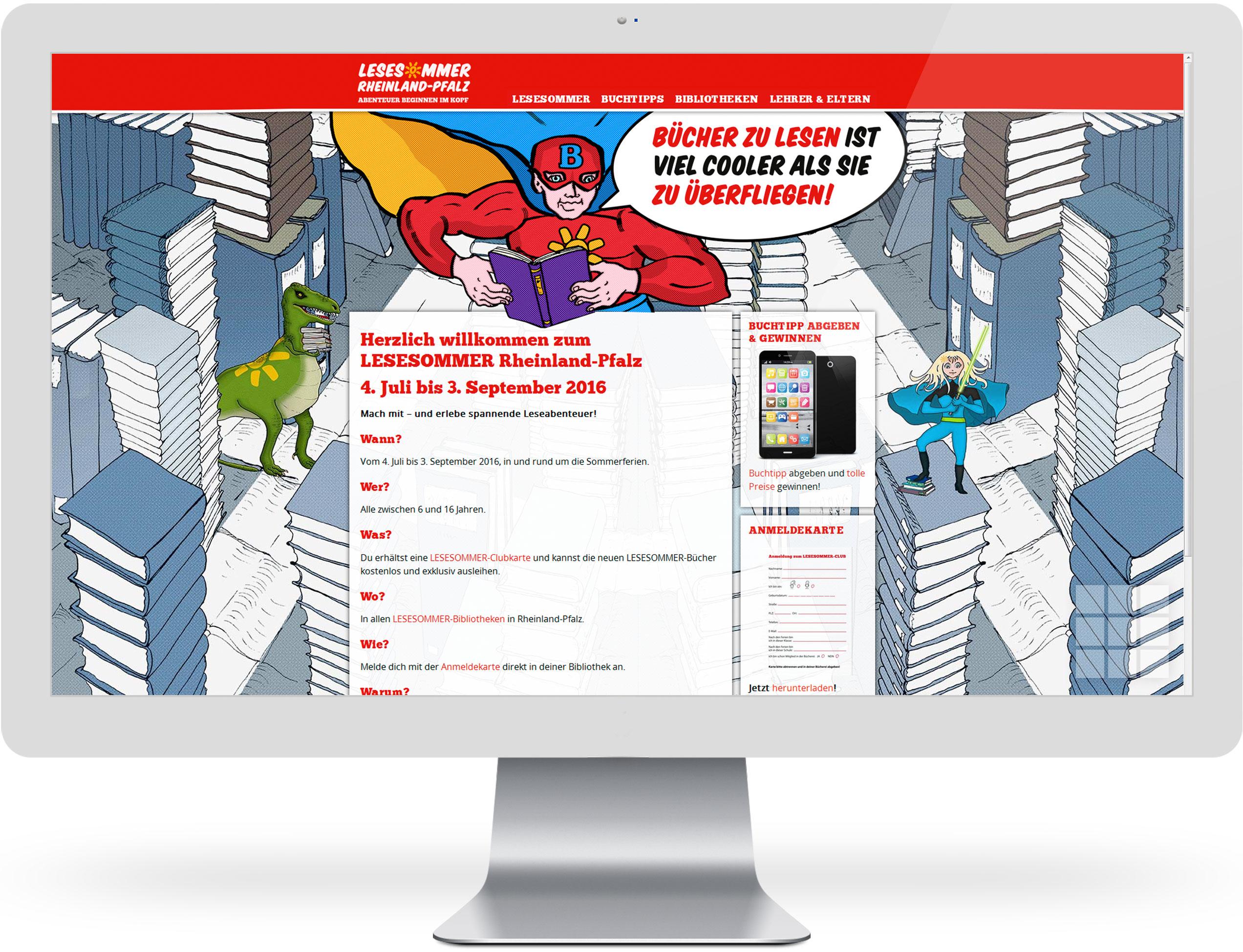 Website für den LESESOMMER 2016