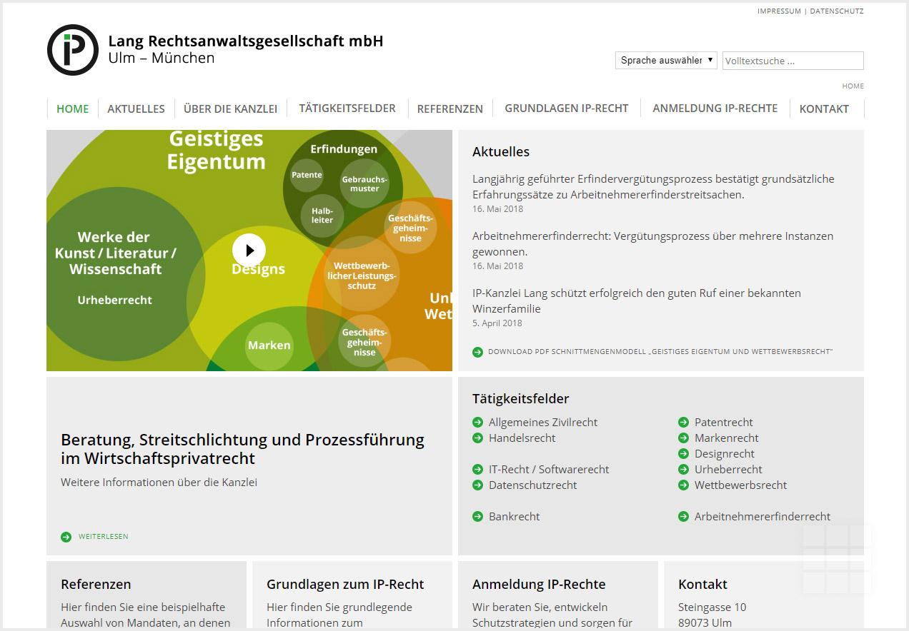 IP-Kanzlei Lang - Partner für Markenrecht und Designanmeldungen