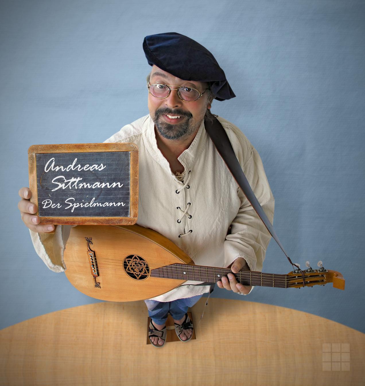 Bildbearbeitung PR-Foto Musiker Andreas Sittmann