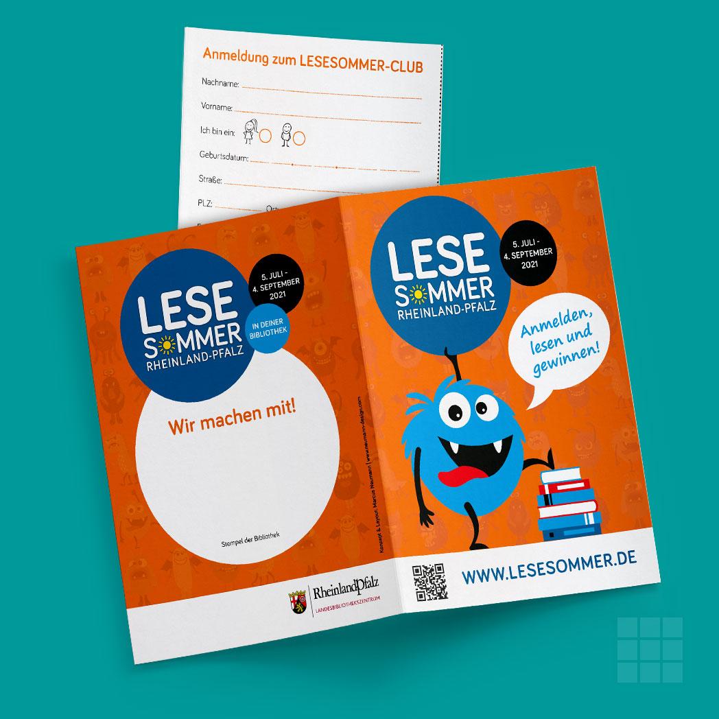 Flyer zur Anmeldung beim LESESOMMER Rheinland-Pfalz