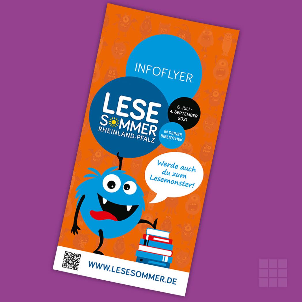 Infoflyer über den LESESOMMER Rheinland-Pfalz