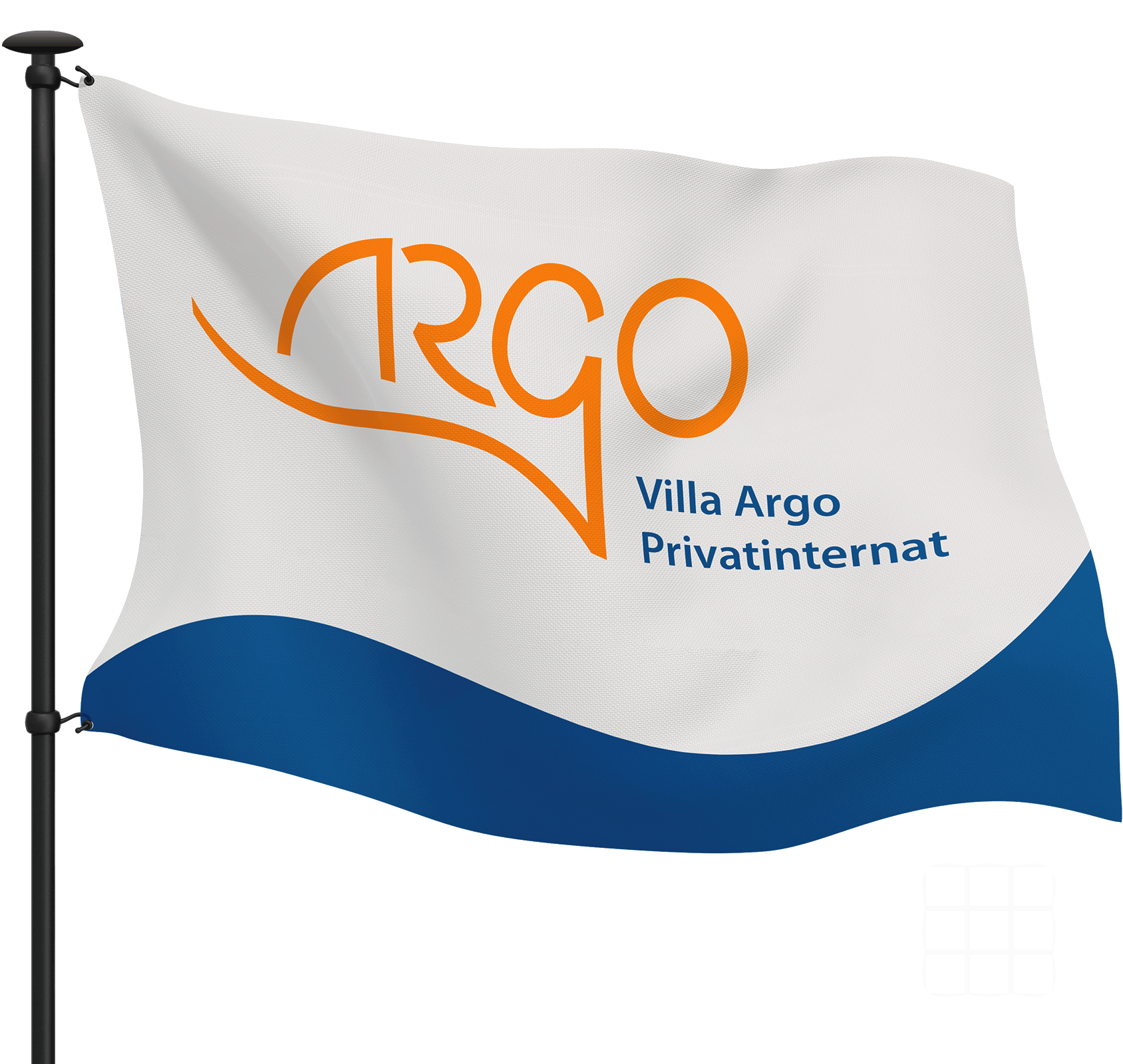 NEUMANN-DESIGN-Corporate-Design-Privatinternat-Villa-Argo-Flagge