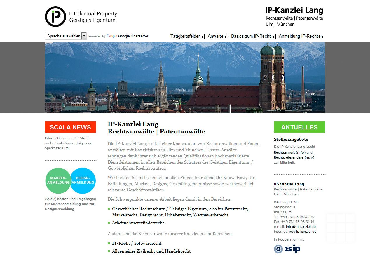 Erscheinungsbild IP-Kanzlei Lang