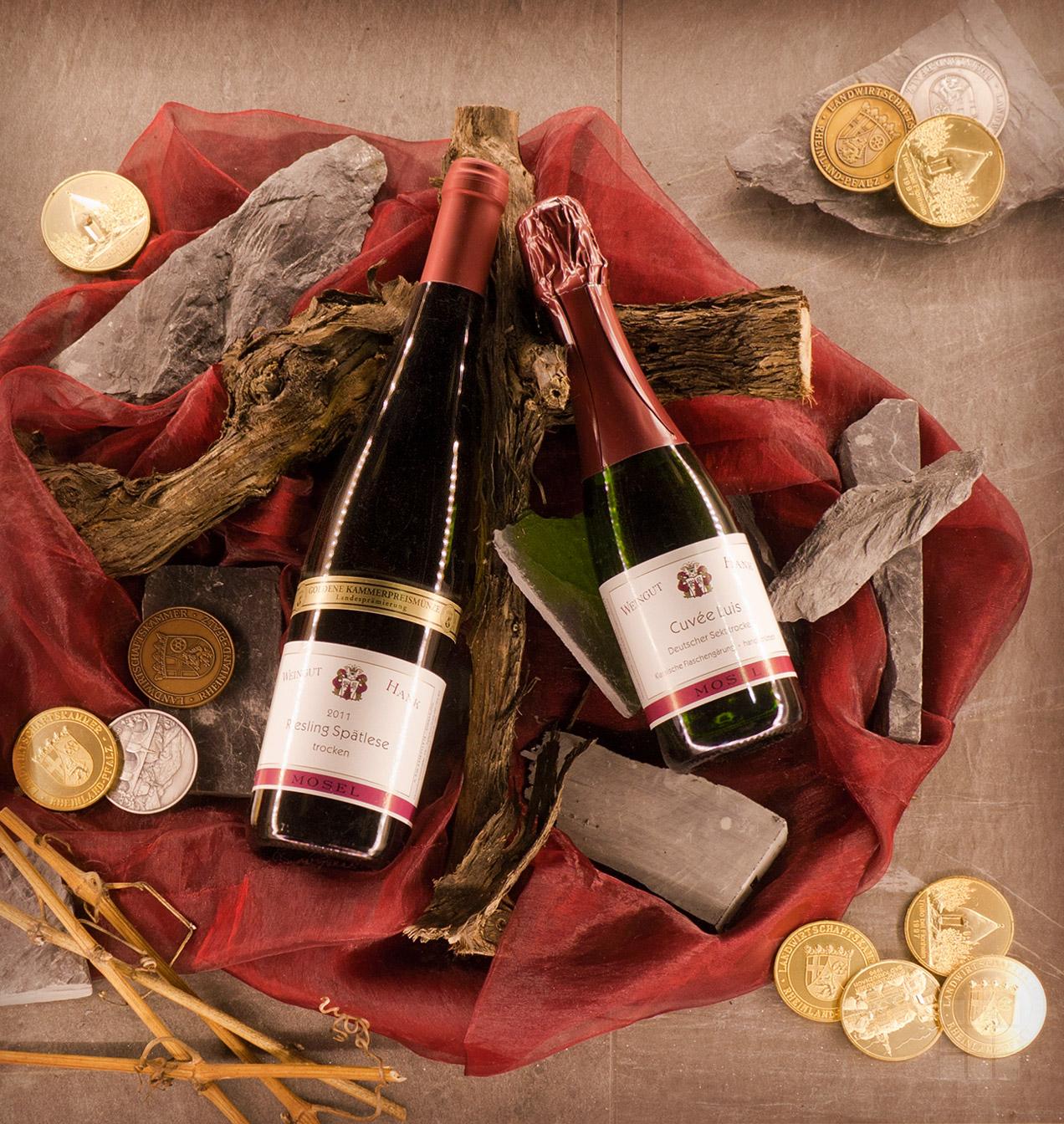 Produktfoto Wein-Arrangement Weingut Hank