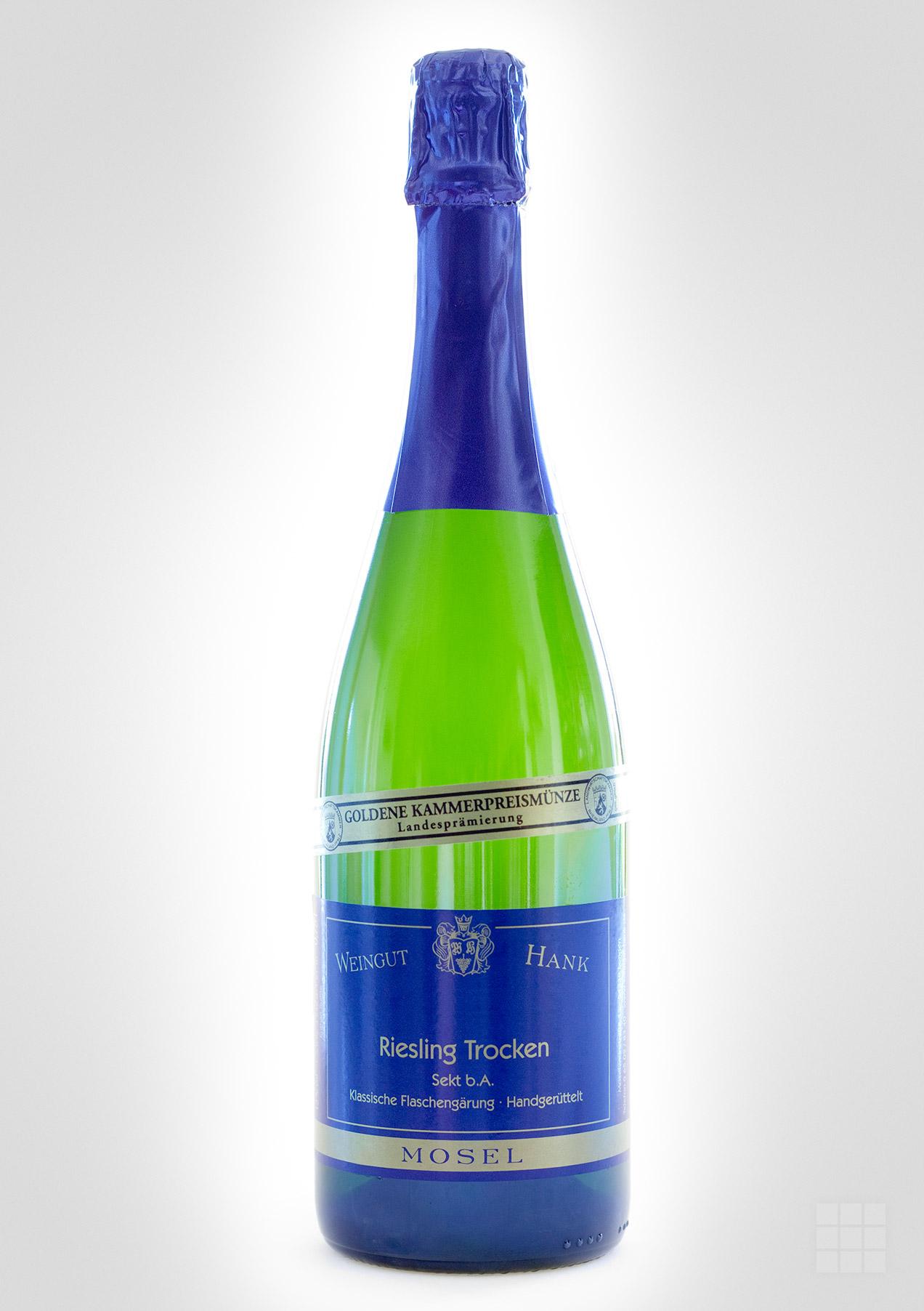 Produktfotografie Sektflasche Weingut Hank