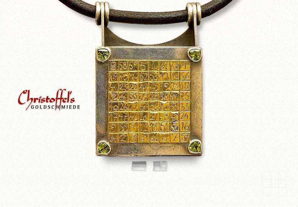Webseiten erstellen für Goldschmiede - Startseite mit geschlossenem Anhänger.