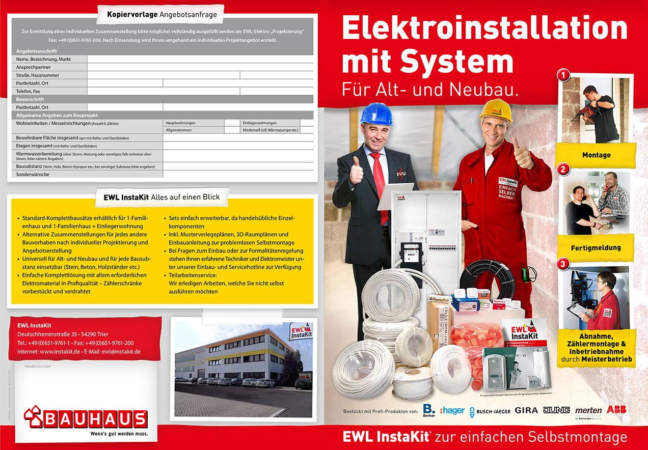 Prospekt EWL InstaKit / Bauhaus