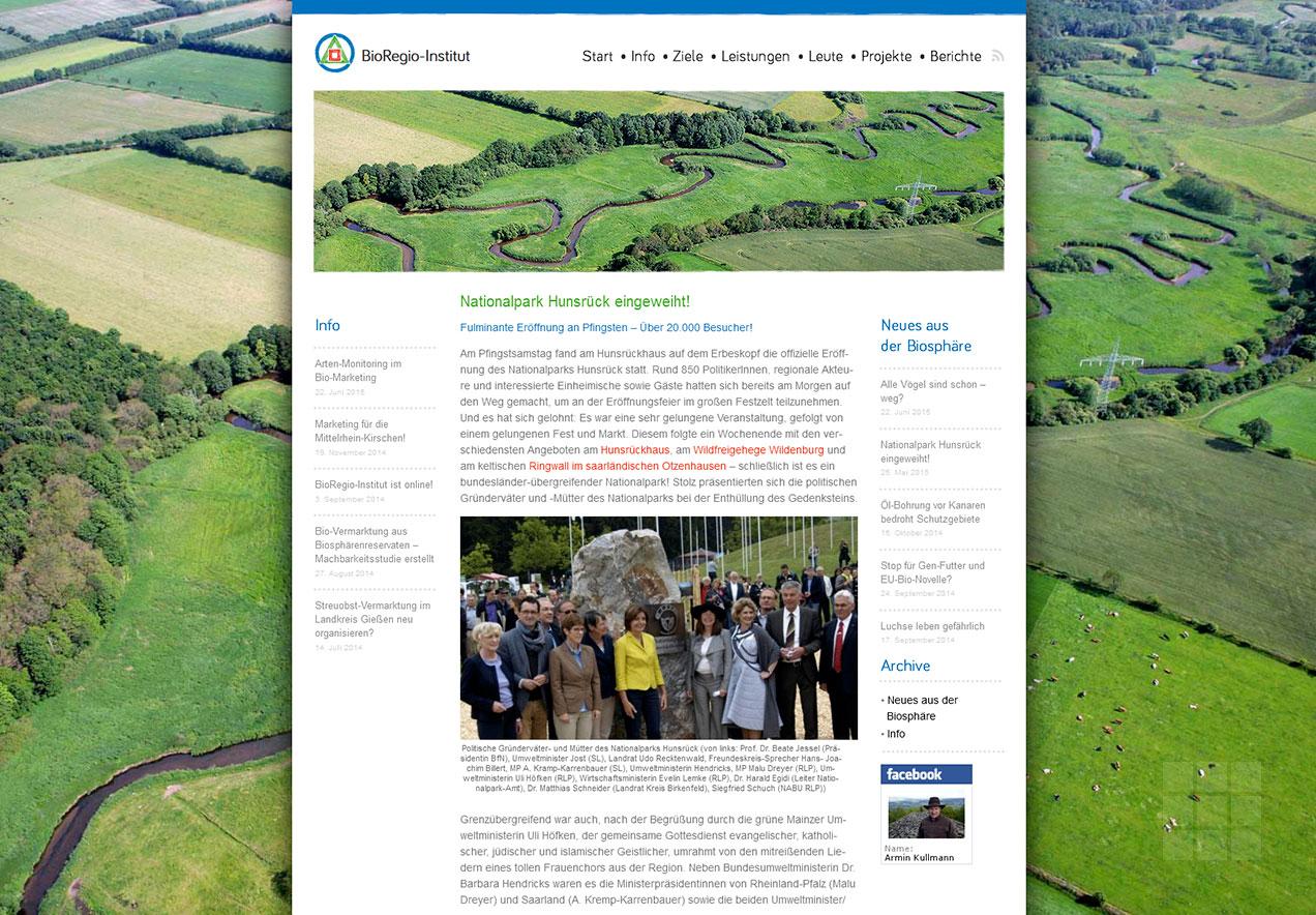 Homepage Gestaltung Forschungsinstitut - Info
