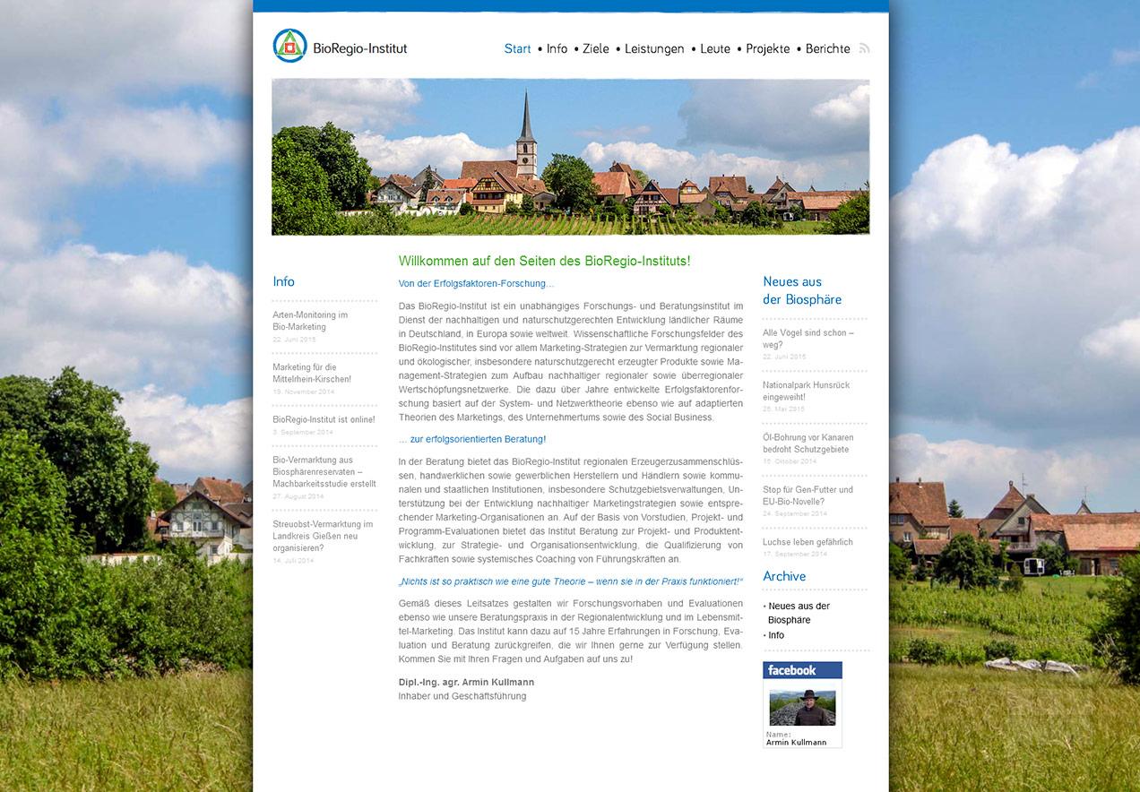 Homepage Gestaltung Forschungsinstitut