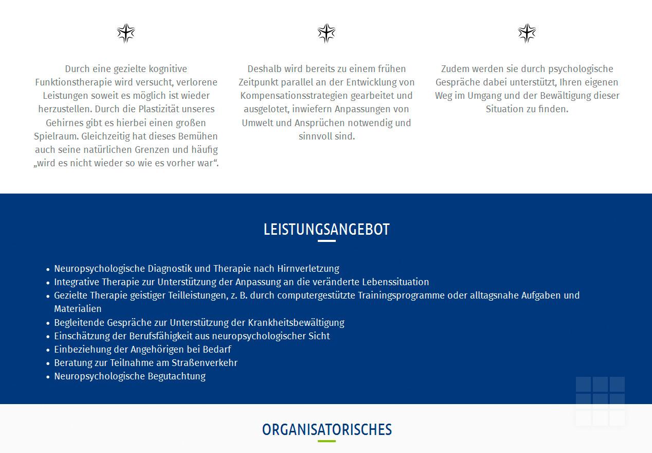 Homepage erstellen für Neuropsychologen