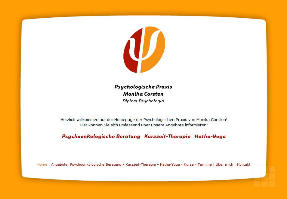 Internetpräsenz Psychologische Praxis – Startseite