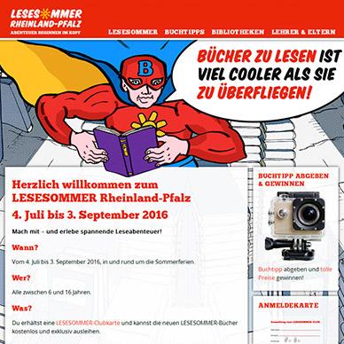 Web Design Lesesommer Rheinland-Pfalz