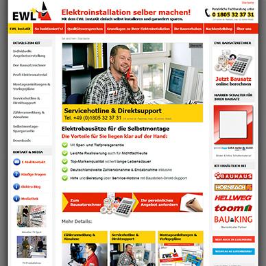 Webseite erstellen für Elektro-Hersteller