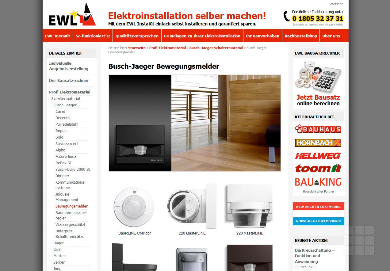 Webseite erstellen für Elektro-Hersteller - Produktseite III