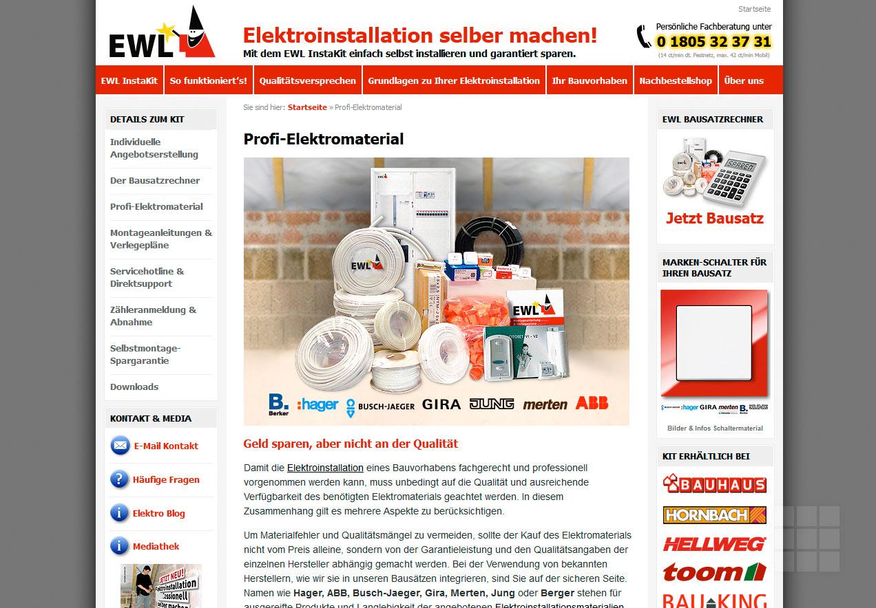 Webseite erstellen für Elektro-Hersteller - Produktseite I