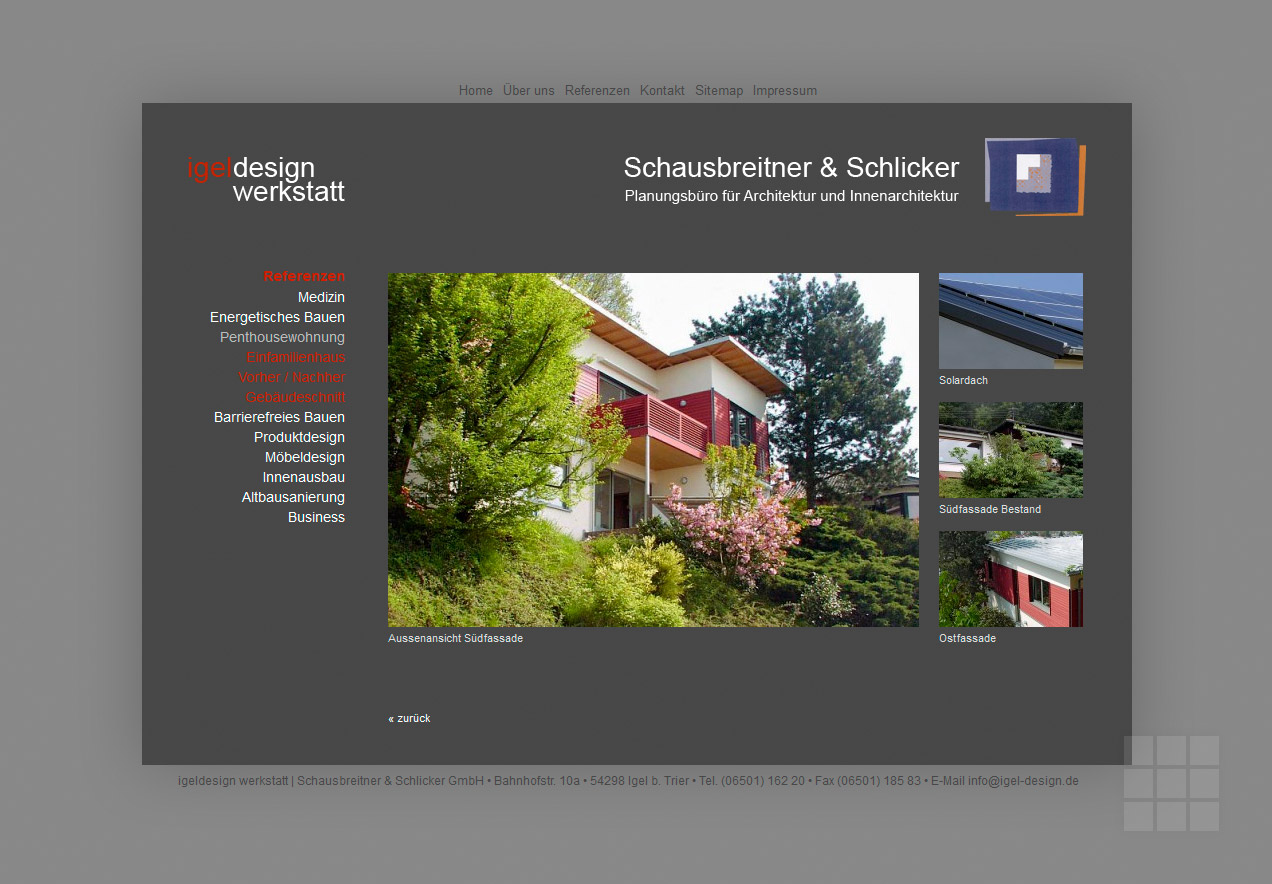 Website für Architekturbüro erstellen – Referenzen vorher / nachher