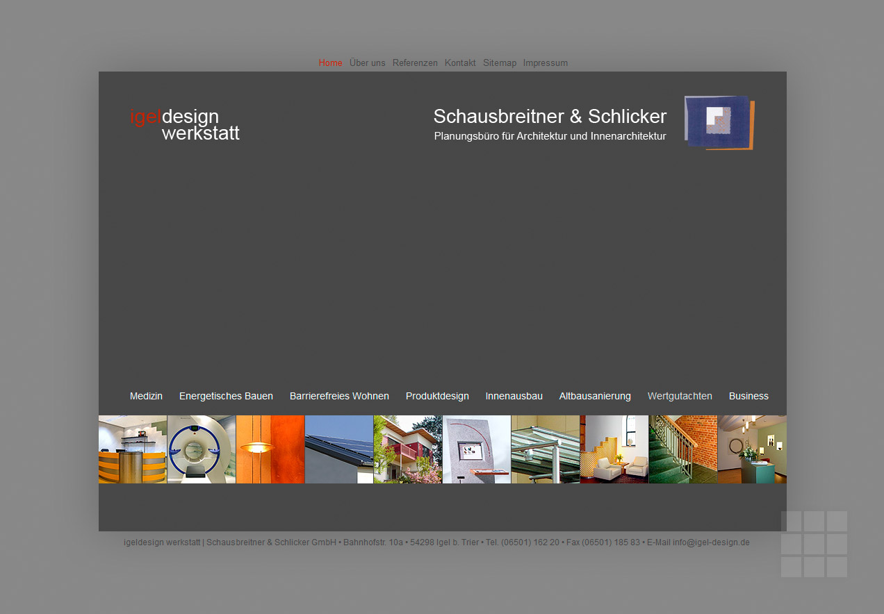 Website erstellen für Architekturbüro – Startseite