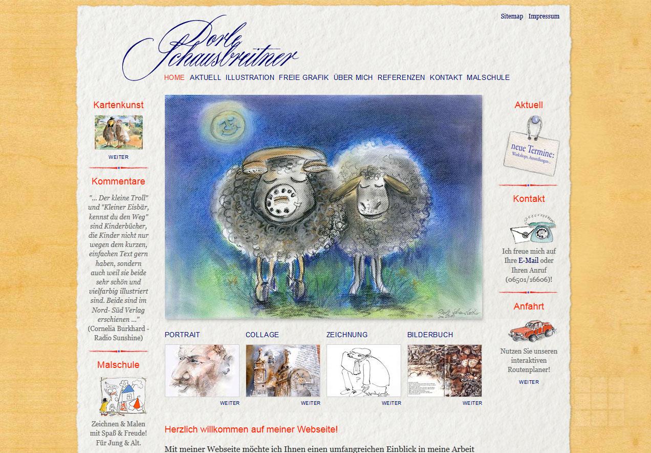 Website gestalten für Illustratorin